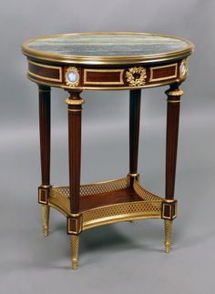 Fantastic Quality Early 20th Century Louis XVI Style Gilt Bronze Mounted Lamp Table  By François Linke