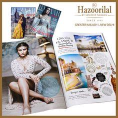 Grab your copy now !! Known for creating bespoke jewellery pieces for weddings. Sandeep Narang gives us his wish list for brides. #HazoorilalBySandeepNarang #HazoorilalPressRelease @bazaarbridein #DlfEmporio #ITCMaurya #GK-1 #WeddingJewellery #BridalJewellery #Since1952 #Glorious65Years #HazoorilalJewellers #Hazoorilal
