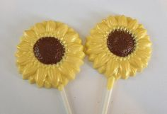 Chocolate Sunflower Party Favors by StephsSweetShop on Etsy, $19.80