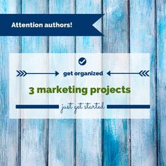 How to sell more books http://selfpublishingteam.com/3-book-marketing-projects-to-tackle-in-2014/