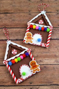 30 DIY Popsicle Stick Decor Ideas To Increase Your Interior Home – Home and Apartment Ideas Christmas Crafts To Make, Homemade Christmas Decorations, Homemade Ornaments, Diy Christmas Ornaments, Simple Christmas, Kids Christmas, Holiday Crafts, House Ornaments, Popsicle Stick Christmas Crafts