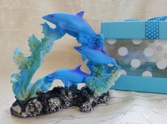 Dolphins. #Dolphins in a #gift box. #Ceramic figurine dolphin. Perfect gift…