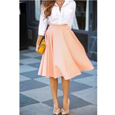 Midi Skirt in Peach NWOT Temporarily out of stock - Soft full skirt features midi length, high waist, back zip closure and beautiful peach color. Soft and slightly stretchy. NWOT Zara Skirts Midi