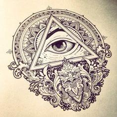 triangle eye tattoo tumblr - Google Search
