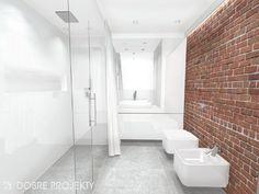 Znalezione obrazy dla zapytania cegła w łązience Bathroom, Loft, Toilet