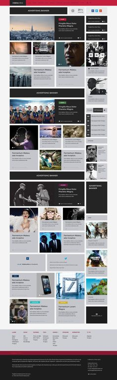 Indeksonline - Web Portal Magazine by Berin Hasi, via Behance Portal Website, News Website Design, Web Design Inspiration, Advertising, Behance, Magazine, Apps, Inspire, Concept