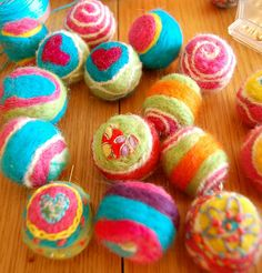 felt beads by tamsyng, via Flickr crocheted then felted - amazing work by tamsyng
