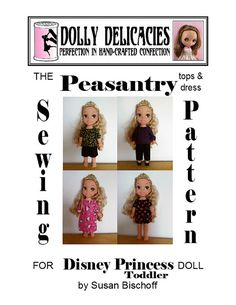 Peasant Blouse Sewing Pattern for Disney by DollyDelicaciesShop