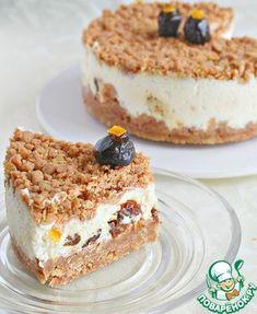 Творожный торфяной пирог с черносливом