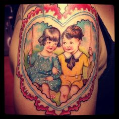Valentines Day Tattoo by Michelle Myles