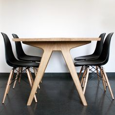 dining table + eames chairs