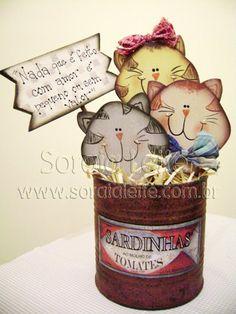 Kit para pintar - Gatinhos na lata