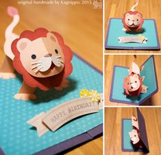 Gallery 2015 - Kagisippo pop-up 3d Cards, Folded Cards, Cards Diy, Diy And Crafts, Crafts For Kids, Paper Crafts, Tarjetas Diy, Pop Up Art, Paper Pop