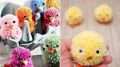 pompom csibe jav Easter Printables, Hoppy Easter, Easter Crafts For Kids, Decoration, Crafty, Diy, Craft Ideas, Children, Tela