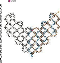 Resultado de imagen para necklace BEAD patterns V