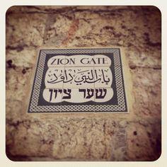#streetsign #ziongate #zion #oldcity #jerusalem #holyland
