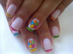 Fifty Shades of Women: Ilyen lesz 2014 körömtrendje Spring Nails, Summer Nails, Spring Flowers, White Flowers, Merry Christmas Gif, Nail Room, Nails For Kids, Cute Nail Art, Fabulous Nails
