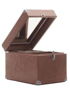 Crackled Leather Beauty Case by Brunello Cucinelli at Bergdorf Goodman.