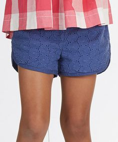 Another great find on #zulily! Blue Eyelet Shorts - Toddler & Girls #zulilyfinds