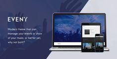 Eveny - Events, Music & Gallery WordPress Theme Free Download