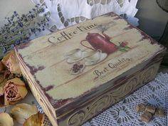 Купить короб для чайных пакетиков красный кофейничек. - бордовый, короб, коробочка, короб для хранения