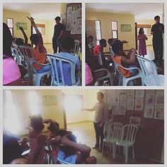 Orlando and Tasya teaching at the #foster home. Today Orlando preached on the #life of #Joseph.  Orlando e Tasya ensinando na #Casa de Passagem (#Orfanato). Hoje ele pregou sobre o #vida #José.  DefesaDaFe.org #biblia #bible