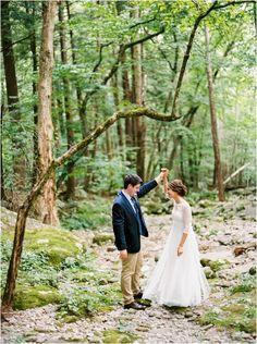 Smoky Mountain wedding at spence cabin
