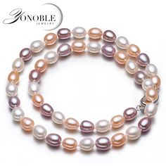 Genuine-freshwater-real-pearl-necklace-women-bridal-gift-white-pink-pink-color-natural-pearl-necklace-silver.jpg (710×710)