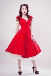 50's style dress.