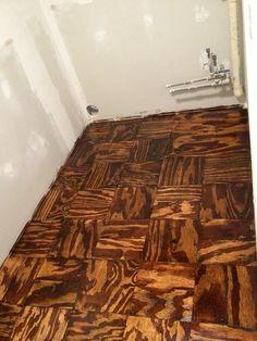 Laundry room plywood floor!