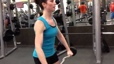 EZ Bar Front Raises  Hilary- Should I do these like in the video or take the bar straight up further?