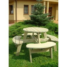 Zest 4 Leisure Katie Round Picnic Table