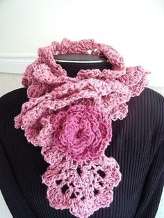 Crochet Pattern scarf or cowl PRINCESS scarf num. 76 by Carlitto