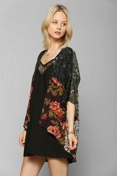 Urban Renewal Patched Blossom Kimono Jacket