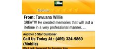 GREAT!!! He created memories that will last a lifetime in a very professional manner.