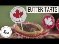 Anna Olson's Butter Tarts Are the Ultimate Canada Day Treat Can't decide on which classic Canadian dish to serve for the nation's birthday? Make Anna Olson's famous butter tarts for your Canada Day festivities! Canadian Dishes, Canadian Cuisine, Canadian Food, Canadian Recipes, Tart Recipes, Dessert Recipes, Desserts, Baking Recipes, Butter Pecan Tarts