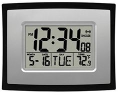 La Crosse Technology Digital Wall Clock >>> Check out the image by visiting the link. (This is an affiliate link) Digital Radio, Digital Wall, Digital Alarm Clock, Wolverhampton, Wall Clock Calendar, Wall Clocks, Housewarming Gifts For Men, Atomic Wall Clock, Modern Clock