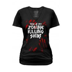 Goodie Two Sleeves Women's Zombie Killing V-Neck - T-Shirt