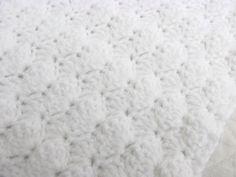 Crochet bebé manta manta blanca nube blanca bautizo manta