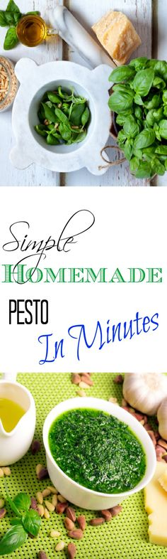 This is the easiest and best recipe I have found for pesto using basil. It is amazing and it freezes well.