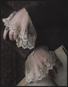 hand studies - with lace shirt