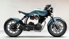 Mac Motorcycles  Ruby - Avalon Blue