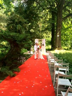 red and green wedding ceremony