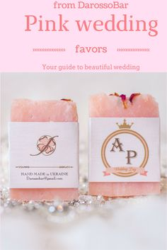 Wedding soap, wedding favors soap, wedding favors, pink wedding, gold wedding favors, gold wedding, soap