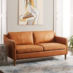 west elm Hamilton Leather Sofa (70 )