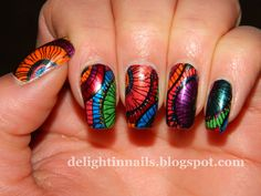 """Stained Glass"" nails"