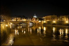 The charm of the Eternal City at night