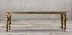Grand Baluster Rectangular Table | Restoration Hardware