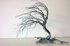Wedding cake topper ,Wire art Windswept tree, cake topper,  - pinned by pin4etsy.com