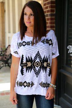 Aztec Lightweight Knit {Mocha}